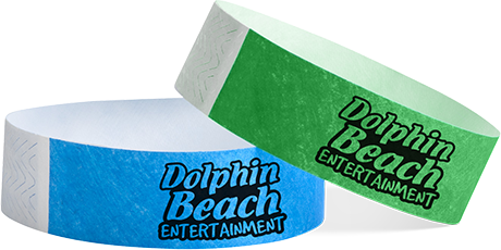Dolphin-beach-entertainment-tyvek-wristbands